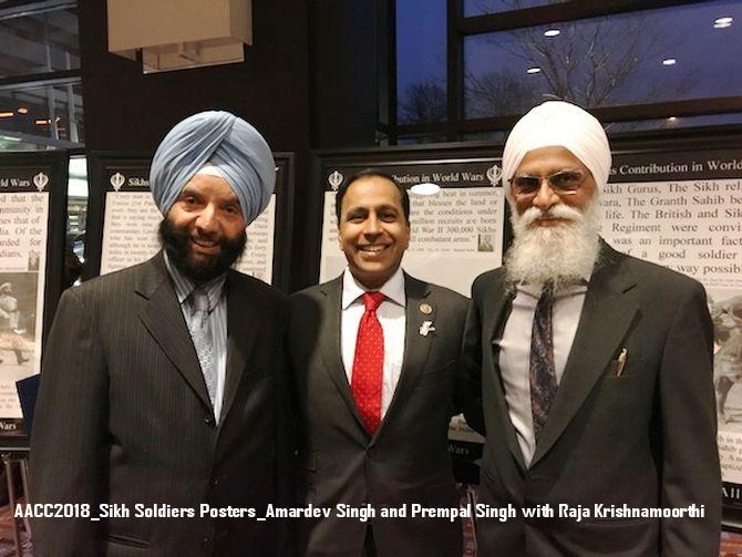AACC2018_Sikh Soldiers Posters_Amardev Singh and Prempal Singh with Raja Krishnamoorthi.jpg