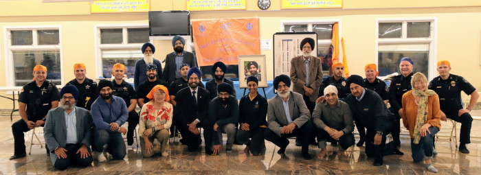 Group Honoring Deputy Sandeep Dhaliwal and othe police officers.JPG