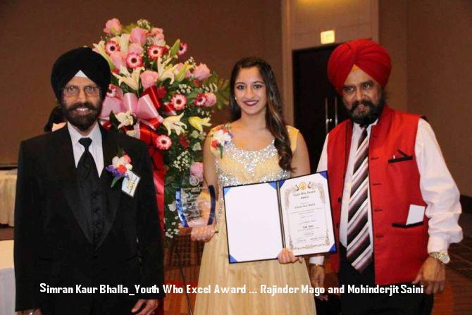 Simran Kaur Bhalla_Youth Who Excel Award ... Rajinder Mago and Mohinderjit Saini.jpg