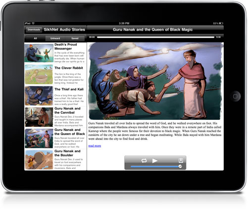 iPad Preview of SikhNet Stories for Kids App