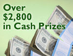Over $2,800 in Cash Prizes