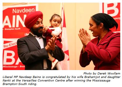 Guarnieri and Bains re-elected in Mississauga   SikhNet