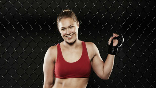 Ronda rousey is an olympic vegetarian and is now a world record