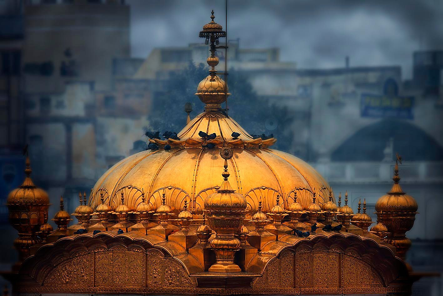 Domes of Golden Temple ~ Lens Art by Amardeep Singh | SikhNet