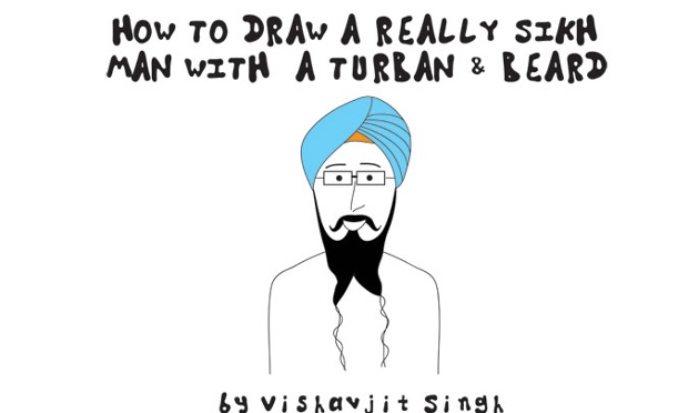 how to draw a turban