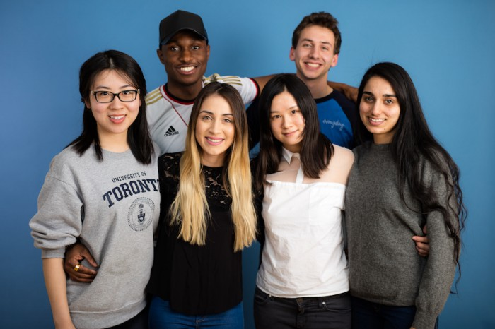 Slate of University of Toronto Student Council Candidates including Malkeet Kaur (far right) (69K)