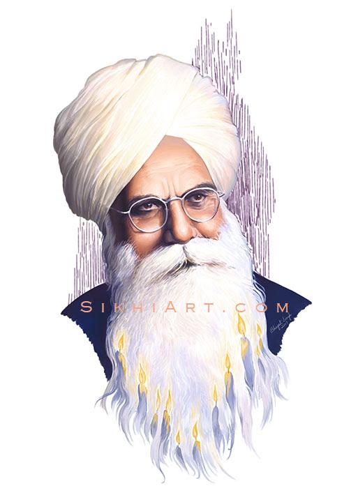 Bhai Vir Singh Ji New Painting By Sikhi Art Sikhnet