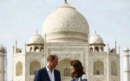 Like many tourists, Britain's Prince William and his wife, Catherine, the Duchess of Cambridge, visited the Taj Mahal during their 2016 trip to India. But overall, tourism to the site has been dropping. (Adnan Abidi/Reuters)