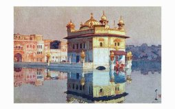 Portrait of the Golden Temple by Hiroshi Yoshida
