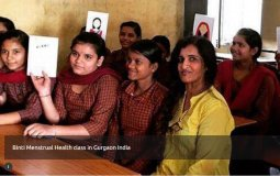 Binti Menstrual Health Class in Gurgaon India