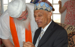 Reverend C.T. Vivian visiting the Sikh Community in Espanola, New Mexico