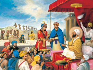 Guru Tegh Bahadur tried to mediate between Raja Ram Singh Ahom king Chakradhwaj Singha.jpg
