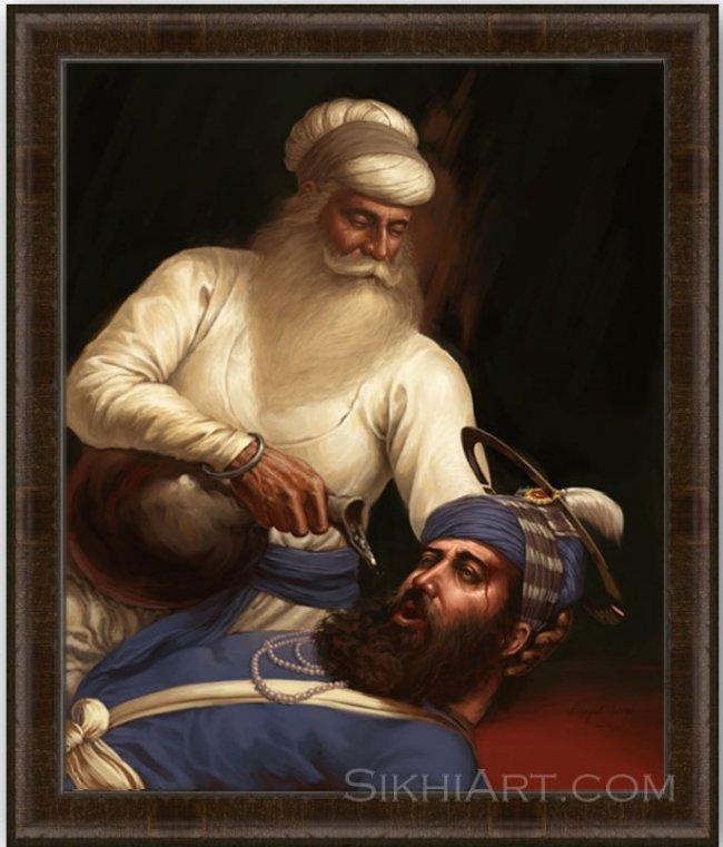 Bhai Kanhaiya ji by Bhagat Singh Bedi - Frame Sikhnet.jpg