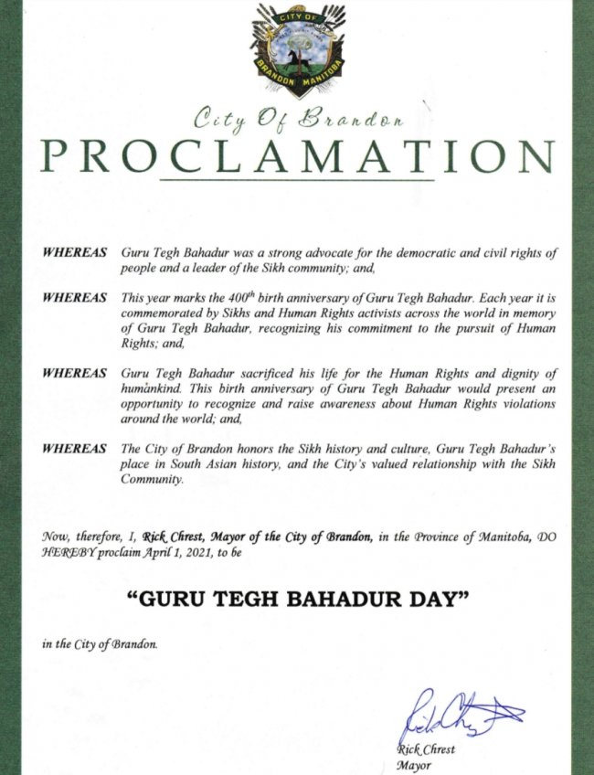 Brandon City proc Guru Tegh Bahadur Day.jpg