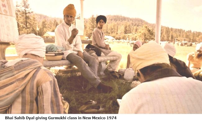 Giving Gurmukhi Class in New Mexico 1974 bold text.jpg