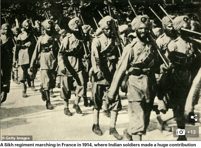 WWI 1914 Sikhs marching.png