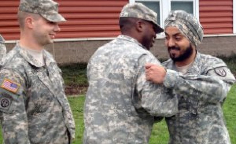 Army's only enlisted Sikh soldier earns rare promotion at