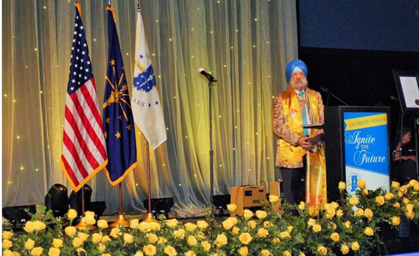 KP Singh speaking at Indiana Bicentennial Celebrations