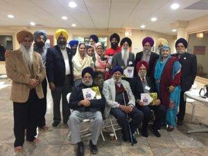 S.Pal Singh Purewal (center) with representatives of various Sikh organizations
