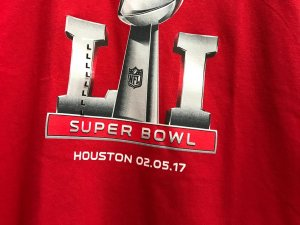 Super Bowl LI tee shirt