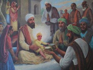 Pir BhikhamShab with Two Bowls and Guru Ji