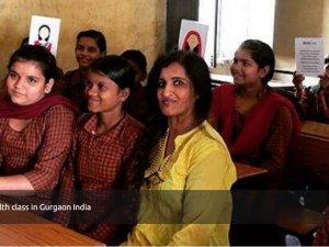 Binti Menstrual Health Class in Gurgaon India
