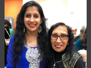 Min Kaur with her mother Pritpal Kaur
