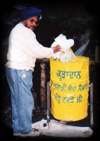 One of the dustbins installed as part of the Safai Seva Project